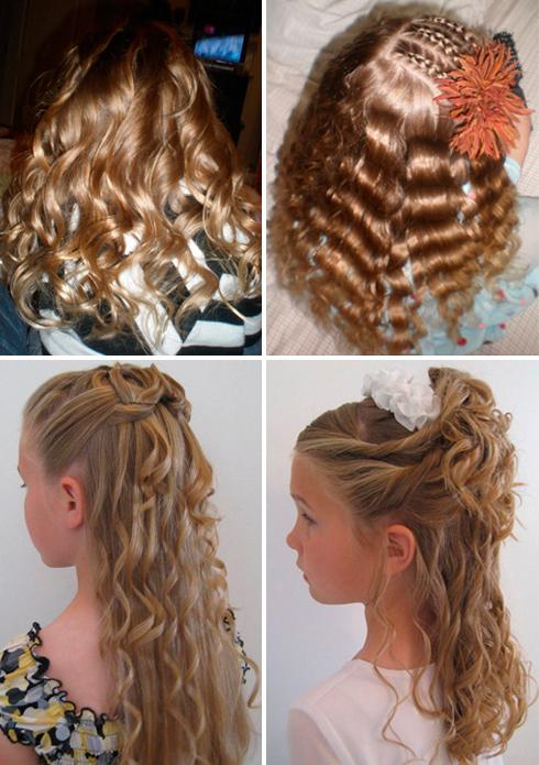 прически на длинные волосы в садик фото
